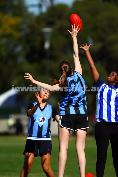 29-3-15. AFL Unity Cup.  J J Holland Reserve, Kensington. Mount Scopus team. Photo: Peter Haskin