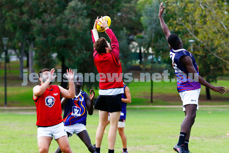 2-4-17. 2017 Unity Cup.  Jew Crew Boys v Ballarat. Photo: Peter Haskin