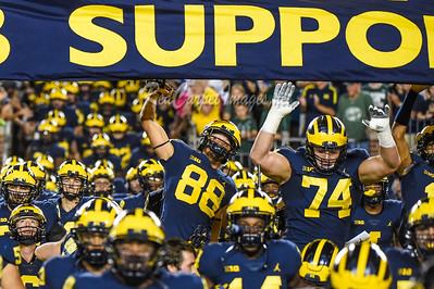 ANN ARBOR, MI - OCTOBER 7:  College Football game between University of Michigan Wolverines and Michigan State University Spartans at Michigan Stadium on October 7, 2017 in Ann Arbor, MI
