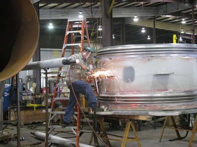 Large Universal stainless steel join in process