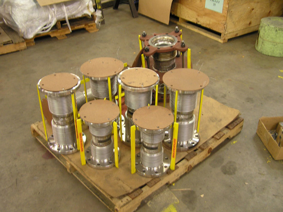 Misc small expansion joints ready for shipment