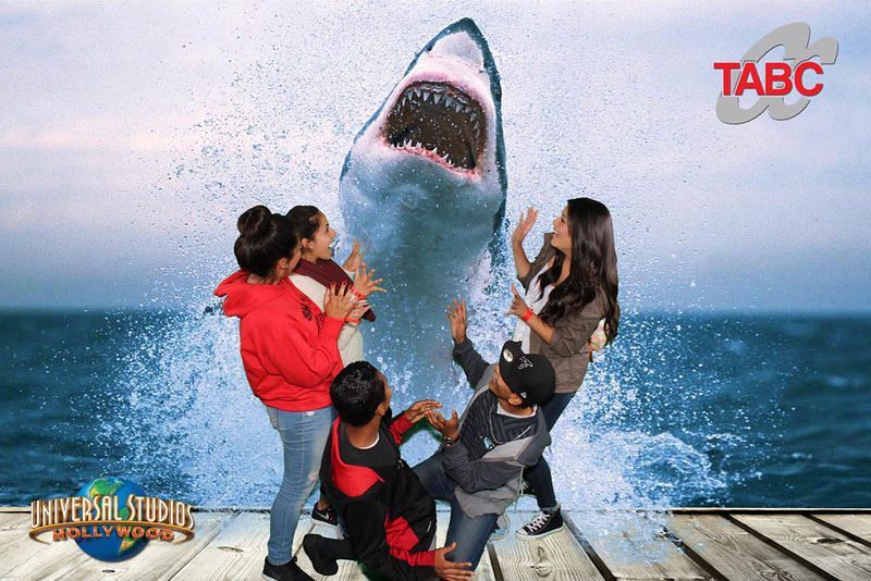 Green screen, shark attack