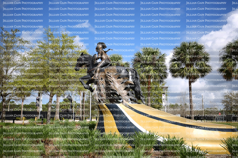 """University of Central Florida's """"The Charging Knight Statue,"""" symbolizes UCF's excellence in academics, partnerships and athletics."""