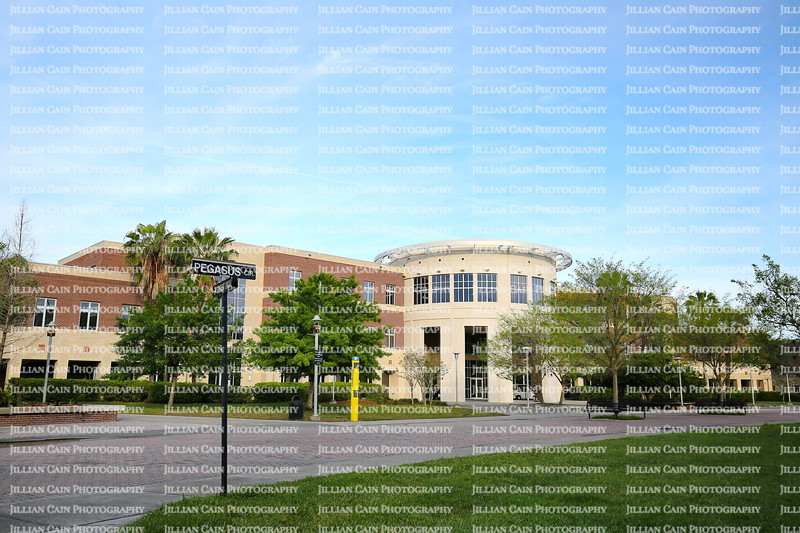 University of Central Florida Health and Public Affairs Building located at Pegasus Circle on the Central Campus.