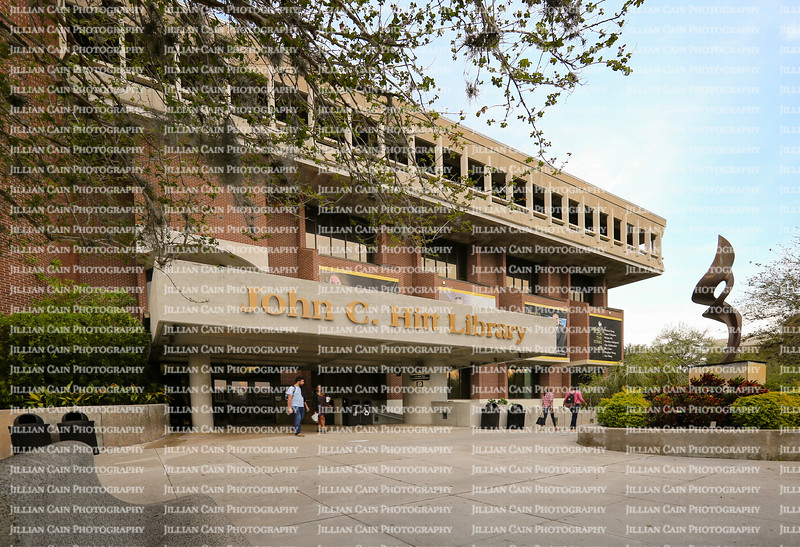The John C. Hitt Library located at the University of Central Florida. A place where students can study without interruptions, named after the current president.