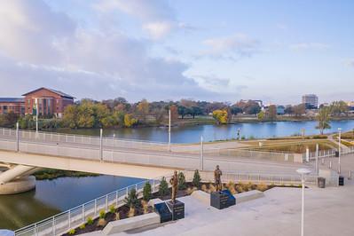 Medal of Honor recipients - MOH - Baylor Veterans - Jack Lummus - John Kane - statues, memorials, plaques, exhibit, installation – McLane Stadium - plaza - 11/19/2020
