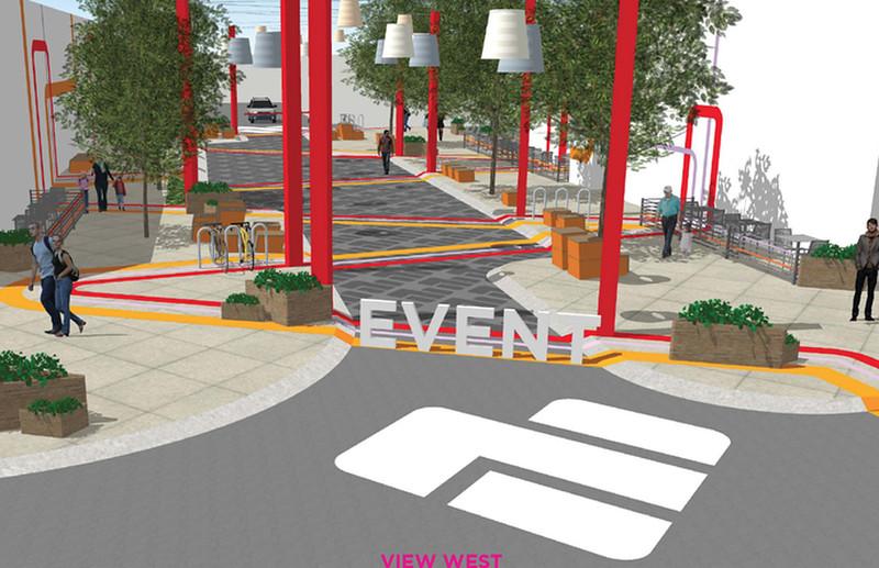 Uni Hill Event Street renderings