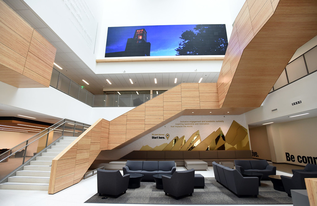 . The lobby of the new Center for Academic Success & Engagement (CASE) building at the University of Colorado. For more photos, go to dailycamera.com. Cliff Grassmick  Staff Photographer  August 3, 2018
