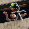 """CU student, Ian Core, releases one of the entries that has an Apple computer and liters of soda protecting the egg.<br /> The University of Colorado School of Engineering held the egg drop event for CU Engineering Days on Thursday.<br /> For more photos and a video of the egg drop, go to  <a href=""""http://www.dailycamera.com"""">http://www.dailycamera.com</a>.<br /> Cliff Grassmick / April 19, 2012"""