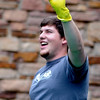 "Will Brewer hods an egg that survived being dropped with four gallons of milk.<br /> The University of Colorado School of Engineering held the egg drop event for CU Engineering Days on Thursday.<br /> For more photos and a video of the egg drop, go to  <a href=""http://www.dailycamera.com"">http://www.dailycamera.com</a>.<br /> Cliff Grassmick / April 19, 2012"