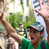 Passions run high as the Occupy 4/20 rally moves close to Norlin Quad on the  CU Boulder Campus  Friday afternoon April 20, 2012. <br /> <br /> Photo by Lewis Geyer   /  The Camera