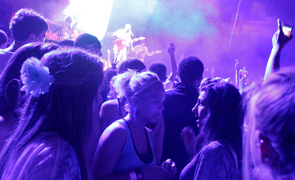 "C.U. students cheer on Wyclef Jean at a students-only concert at the Coors Event Center on Friday, April, 20, 2012, in Boulder.<br /> Photo by Derek Broussard<br /> For more photos and video visit  <a href=""http://www.dailycamera.com"">http://www.dailycamera.com</a>"