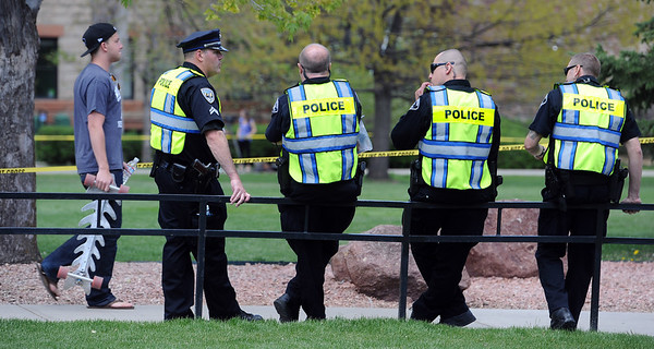 "A large police presence was felt on Norlin quad.<br /> For more photos and videos of 4/20,  go to  <a href=""http://www.dailycamera.com"">http://www.dailycamera.com</a><br />  Cliff Grassmick / April 20, 2012"