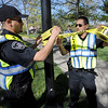 "Boulder County Sheriffs deputie, Trujilo and Avina, put police tape arounf the Norlin quad area Friday morning.<br /> For more photos and videos of 4/20,  go to  <a href=""http://www.dailycamera.com"">http://www.dailycamera.com</a><br />  Cliff Grassmick / April 20, 2012"
