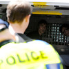 "University of Colorado seniors Jonathan Edwards, back left, and John Demopoulos, back right, chant marijuana activist remarks while their friend and fellow senior Gabriel Kuettel is loaded into the police van after being arrested for trespassing on the Norlin Quad on the University of Colorado campus in Boulder on April 20, 2012. For more photos and video of 4/20 on the CU campus in Boulder go to  <a href=""http://www.dailycamera.com"">http://www.dailycamera.com</a><br /> Jeremy Papasso/ Camera"