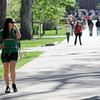 "CU student Danielle Slusher holds her nose while walking through campus Friday morning. <br /> For more photos and videos of 4/20,  go to  <a href=""http://www.dailycamera.com"">http://www.dailycamera.com</a><br />  Cliff Grassmick / April 20, 2012"