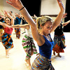 "Carly Kruedelbach, front, leads the class in a dance during the Maymester African Dance class final on Friday, June 1, at the University of Colorado Dance and Theatre building on the CU campus in Boulder. For more photos and video of the dance go to  <a href=""http://www.dailycamera.com"">http://www.dailycamera.com</a><br /> Jeremy Papasso/ Boulder Daily Camera"