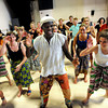 "Instructor Nii Armah Sowah, center, gets his class in a rhythm during an African Dance class final on Friday, June 1, at the University of Colorado Dance and Theatre building on the CU campus in Boulder. For more photos and video of the dance go to  <a href=""http://www.dailycamera.com"">http://www.dailycamera.com</a><br /> Jeremy Papasso/ Boulder Daily Camera"