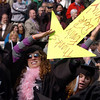 Maggie Rosenberg found a way for her family and friends to find her in the crowd.<br /> The University of Colorado conferred 5,825 degrees at Folsom Field Friday, May 7, 2010.<br /> Cliff Grassmick / May 7, 2010