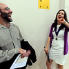 "CU economics professor Jeff Zax, and graduate Ilana Fischer,  have a great laugh after she left the stage with her honors medal.<br /> The University of Colorado College of Arts and Sciences held the Honors Program Convocation on Thursday at the Glenn Miller Ballroom.<br /> For more photos and a video of the convocation, go to  <a href=""http://www.dailycamera.com"">http://www.dailycamera.com</a><br /> Cliff Grassmick / May 6, 2010"