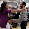 """CU economics professor Jeff Zax, right, hugs graduate Ilana Fischer before the honors convocation.<br /> The University of Colorado College of Arts and Sciences held the Honors Program Convocation on Thursday at the Glenn Miller Ballroom.<br /> For more photos and a video of the convocation, go to  <a href=""""http://www.dailycamera.com"""">http://www.dailycamera.com</a><br /> Cliff Grassmick / May 6, 2010"""