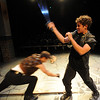 "Actors, RJ Conley, left, and Scott Ryan battle during  dress rehearsal.<br /> Members of the CU Boulder Theatre and Dance Department rehearse the play, ""Tamburlaine: Reign in Blood"" on Sunday night. The theatre department is 50-years old.<br /> For more photos of rehearsal, go to  <a href=""http://www.dailycamera.com"">http://www.dailycamera.com</a>.<br /> Cliff Grassmick / September 26, 2010"