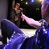 "Actor Scott Ryan, left, is about to ""stab"" Dan Foote during dress rehearsal.<br /> Members of the CU Boulder Theatre and Dance Department rehearse the play, ""Tamburlaine: Reign in Blood"" on Sunday night. The theatre department is 50-years old.<br /> For more photos of rehearsal, go to  <a href=""http://www.dailycamera.com"">http://www.dailycamera.com</a>.<br /> Cliff Grassmick / September 26, 2010"