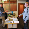 Joe Cafferty, left,  works with Dane Abernathy, who was in the Air Force,  in the Veteran Affairs at the University of Colorado Center for  Community on Friday.<br /> Cliff Grassmick / March 2, 2012