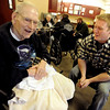 "Bill Brown, left, talks about his military experience with vet and current CU student, Lane Masters<br /> Former military vets who are now attending school at the University of Colorado, visited Fitzsimons Veterans Nursing Home in Denver.<br /> For more photos and a video of the vets, go to  <a href=""http://www.dailycamera.com"">http://www.dailycamera.com</a>.<br /> Cliff Grassmick / March 4, 2012"