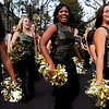 "(From left to right) CU senior Shahlaye Geer, senior Jalesa Moore, and junior Lauren Guillory march as part of the dance team during this year's first Pearl Street Stampede along the Pear Street Mall in Boulder on Friday. The Colorado Buffaloes play the Colorado State Rams tomorrow at Folsom Field for the  annual Rocky Mountain Showdown.<br /> DAILY CAMERA/Kasia Broussalian<br /> For more photos and a video of the event, please visit  <a href=""http://www.dailycamera.com"">http://www.dailycamera.com</a>"
