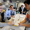 "Nikki Machalek, left, Will Norris, Hanadi Salamah, and David Pak, build a prototype of the freshman engineering project they have developed.<br /> The University of Colorado will use a $4.3 million grant to find out why college students are leaving STEM majors. <br />  For  a video and more photos of the engineering labs, go to  <a href=""http://www.dailycamera.com"">http://www.dailycamera.com</a>. <br />  Cliff Grassmick  / February 28, 2013"