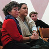 "Barbara Kulton, left, and Maria Genao-Homs, hold hands while listening to a speaker.<br /> A memorial honoring the life and legacy of CU student Transito ""Tito"" Torres was held Thursday at the UMC. For more photos and a video, go to  <a href=""http://www.dailycamera.com"">http://www.dailycamera.com</a>.<br /> Cliff Grassmick / December 10, 2009"