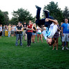 N0923CONCERT006.JPG Larkin Poynton flips while dancing to Savoy at the University of Colorado at Boulder Welcome Back Concert on Saturday, Aug. 22, 2009.  The concert featured DJ Hot to Death, Savoy and Pretty Lights.<br /> <br /> Photo by Mara Auster/Daily Camera