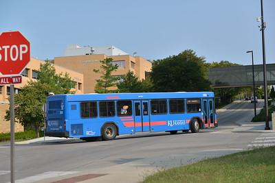 Bus on campus at KU. Sept. 2020