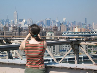 Audrey Brooklyn bridge closeup