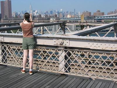Audrey Brooklyn bridge