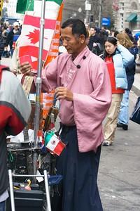 Guy pink shirt