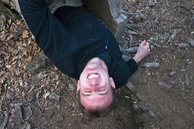 Me leaving log upside-down
