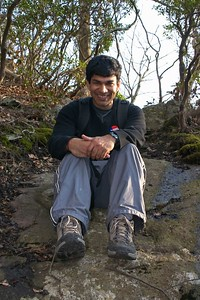Ankur near end of hike