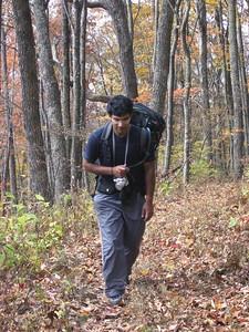 Ankur hiking