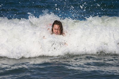 Kristin surfing head