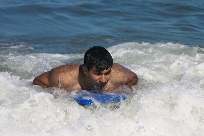Ankur surfing