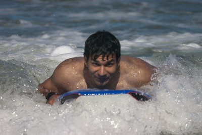 Ankur surfing wave