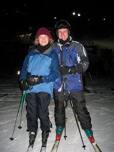 Me Kristin skis full