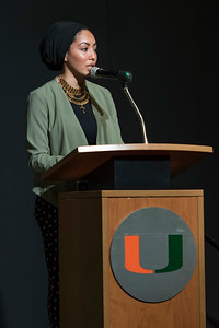 Office of Enhancements Year-End Celebration awards at the Watsco Center Field house at UM in Coral Gables on April 11, 2018. (Photo by Mitchell Zachs)