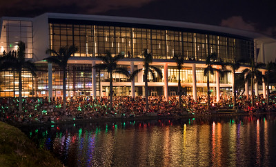 The University of Miami Homecoming fireworks in Coral Gables on Nov. 3rd, 2017. (Photo by Mitchell Zachs)