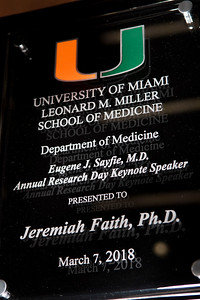 University of Miami Department of Medicine, 4th Annual Eugene J. Sayfie, MD Research Day at the Lois Pope Breezeway in Miami on March 7, 2018. (Photo by Jenny Abreu)