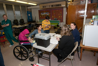 President Shalala Tours the Pediatric Mobile Clinic