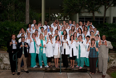Nurse Anesthesia Program students at the School of Nursing and Health Studies at the University of Miami