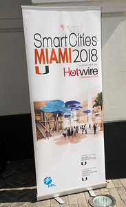 SmartCities Miami conference at the University of Miami School of Architecture in Coral Gables on April 5, 2018. (Photo by Mitchell Zachs)